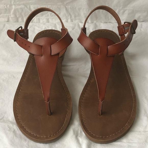 Shoes   Cognac Sandals   Poshmark